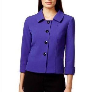 Tahari ASL 4 Button Blazer Purple